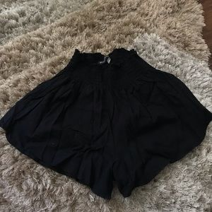 Brandy Melville Black Flowy Shorts